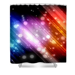 Sky Beams Shower Curtain by Carol Crisafi