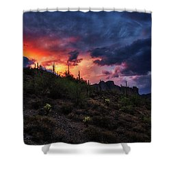 Shower Curtain featuring the photograph Sky Candy by Rick Furmanek