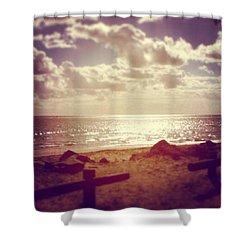 #sky #clouds #beach #beautiful Shower Curtain