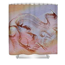 Sky Dance Shower Curtain by Asha Carolyn Young