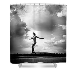 Sky Dancing Shower Curtain