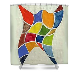 Sky Diver Watercolor Shower Curtain