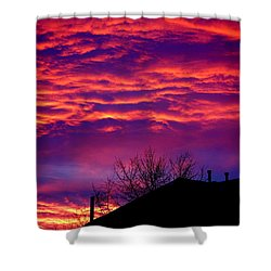 Shower Curtain featuring the photograph Sky Drama by Valentino Visentini