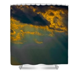 Sky Effects Shower Curtain by DigiArt Diaries by Vicky B Fuller