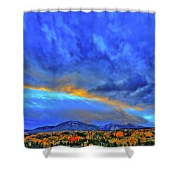 Shower Curtain featuring the photograph Sky Fall by Scott Mahon
