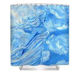 Sky Goddess Shower Curtain by Cassandra Geernaert