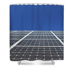 Sky Grid  Shower Curtain by Lyle Crump