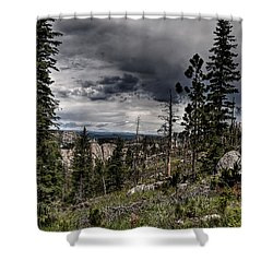 Shower Curtain featuring the photograph Sky-high by Deborah Klubertanz