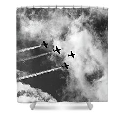 Sky High - Vintage Planes Shower Curtain