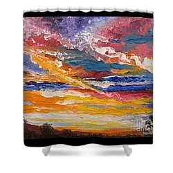Flying Lamb Productions            Sky In The Morning Shower Curtain