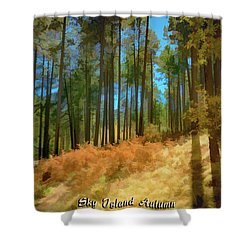 Sky Island Autumn Shower Curtain
