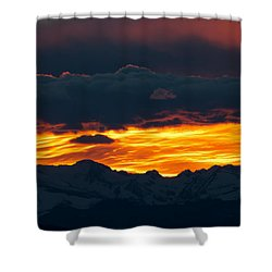 Sky Lava Shower Curtain by Colleen Coccia