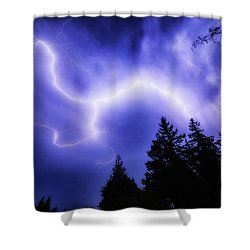 Sky Lightning Shower Curtain