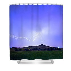 Shower Curtain featuring the photograph Sky Monster Above Haystack Mountain by James BO Insogna