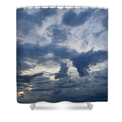 Shower Curtain featuring the photograph Sky Moods - Happenings by Glenn McCarthy Art and Photography