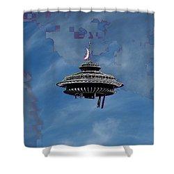 Sky Needle Shower Curtain by Tim Allen