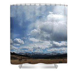 Sky Of Shrine Ridge Trail Shower Curtain
