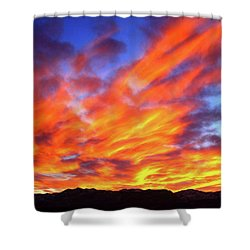 Sky On Fire #5 Shower Curtain