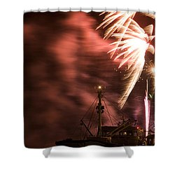 Shower Curtain featuring the photograph Sky On Fire by Ian Middleton