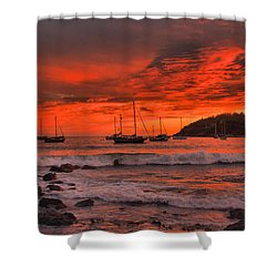 Sky On Fire Shower Curtain by Jim Walls PhotoArtist