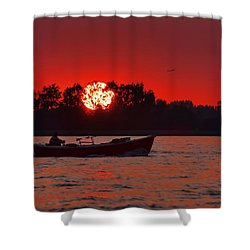 Sky On Fire Shower Curtain