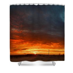 Shower Curtain featuring the photograph Sky On Fire by Rod Seel