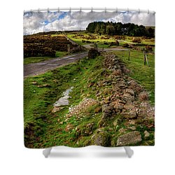 Sky On The Tor  Shower Curtain by Rob Hawkins
