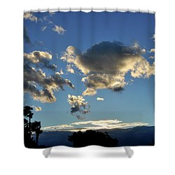 Sky Over Sky Valley Shower Curtain by Diane Lent