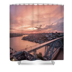 Shower Curtain featuring the photograph Sky Pierce by Bruno Rosa