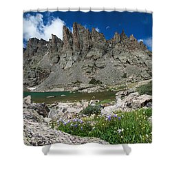 Sky Pond - Rocky Mountain National Park Shower Curtain by Aaron Spong