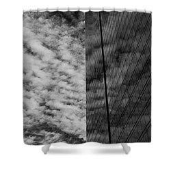 Shower Curtain featuring the photograph Sky Show by Lora Lee Chapman