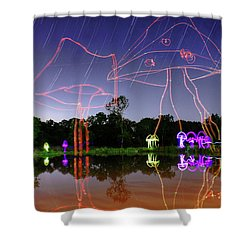 Sky Shrooms Shower Curtain