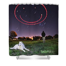 Sky Smile Shower Curtain
