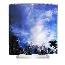 Sky Study 4 3/11/16 Shower Curtain