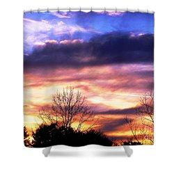 Sky Study 8 3/11/16 Shower Curtain