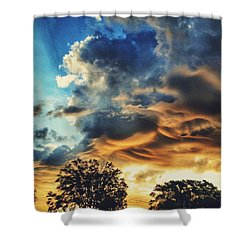 Shower Curtain featuring the photograph Sky Surf by Nikki McInnes