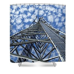 Shower Curtain featuring the photograph Sky Tower by Robert Geary