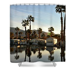 Sky Valley, Ca Shower Curtain by Diane Lent