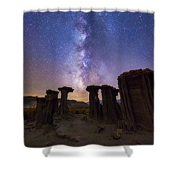 Shower Curtain featuring the photograph Sky Watchers by Tassanee Angiolillo