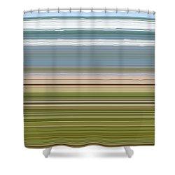 Sky Water Earth Grass Shower Curtain