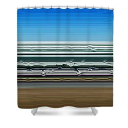Sky Water Earth Shower Curtain