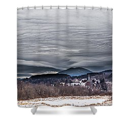 Sky Waves Shower Curtain