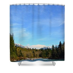 Skykomish River And Persis Shower Curtain