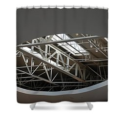 Shower Curtain featuring the photograph Skylight Gurders by Rob Hans