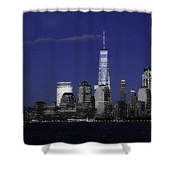 Skyline At Night  Shower Curtain