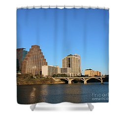 Shower Curtain featuring the photograph Skyline Atx by Sebastian Mathews Szewczyk
