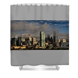 Skyline Fog Shower Curtain by Brad Allen Fine Art