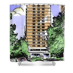 Skyline House Condo Shower Curtain