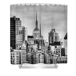 Shower Curtain featuring the photograph Skyline Infrared 2 by Dave Beckerman