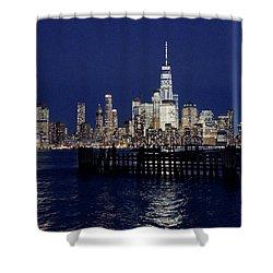 Skyline Lights Shower Curtain
